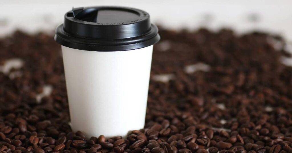 Café vasos de papel